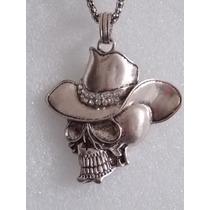 Cadena Con Pendiente De Calavera Y Sombrero Collar