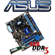Kit Placa Asus Ddr3 Lga 775 + E7500 + Cooler + 4gb Ddr3