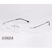 Armação P/ Óculos De Grau Sem Aro Em Titânio Memory 9 Cores