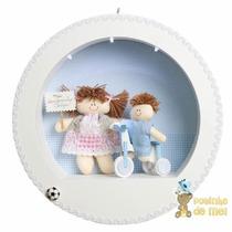Nicho/ Porta Maternidade 3 Leds Nome Bebê Menino No Triciclo