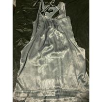Vestido Corto Color Plata Marca Pepe Jeans Fiesta Cocktail