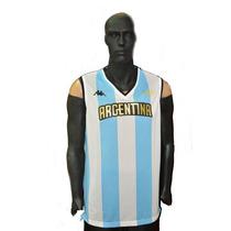 Camiseta Argentina Rio 2016 Kappa Basquet Original