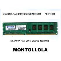 Memoria Ram 2gb Ddr3 1333mhz, Nueva Oem Para Computador