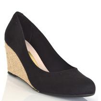 Sapato Feminino Moleca Anabela 5270500 Camurça Originaltc
