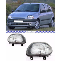 Farol Renault Clio 2000 2001 2002 Foco Simples Novo Par