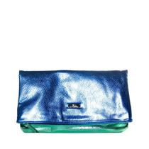 Xl Extra Large Baco Sobre Azul/verde Cartera Para Mujer.