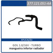 Mangueira Inferior Radiador Gol 1.0 16v Turbo 377121051-aa