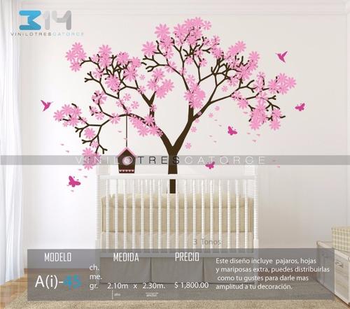 Vinilo decorativo rbol infantil i 45 calcoman a cerezo - Arboles decorativos jardin ...
