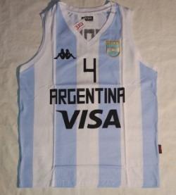 570cbd11bc6fa Musculosa Algodon Seleccion Argentina Basquet 14 Scola Kapp -   599 ...