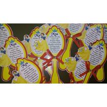 10 Invitacion Forma Espejo Cualquier Princesa