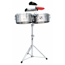 Timbales Latin Percussion Tito Puente 14/15 Con Atril Lp257s