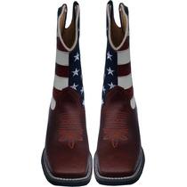 Bota Em Couro Country Masculina, Eua, Americana,texas,cowboy