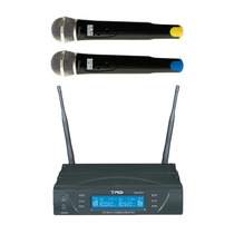 Microfone Tagima Profissional Digital Tm 8034 Sem Fio Duplo