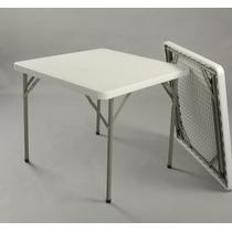 Mesa Plegable Cuadrada Plástico 85 X 85 Cm