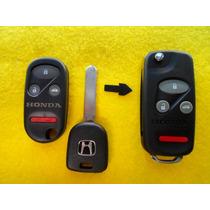 Carcasa Llave Y Control Modificacion Honda 3 Botones + Panic