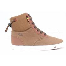 Tênis Vibe Reach Marrom Cano Alto Bota Vwsv-07a Sneakers