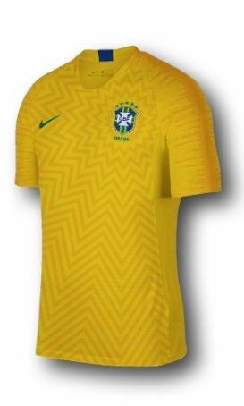 Camisa Brasil Home Tecido Dri Fit Tamanho Infantil Nike 249a4e41b4416