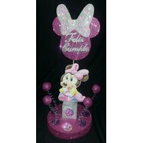 Adorno De Torta Disney Mickey Y Minnie Bebe Cumpleaños