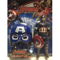 Boneco Mascara Homem Aranha, Hulk ,homem Ferro, Cap America