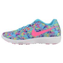 Zapatilla Mujer Nike Lunartempo 2 Print Azul Pl Envío Gratis