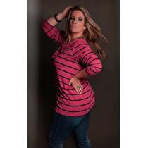 Blusa Feminina Plus Size Gordinha Casual Entrega Imediata