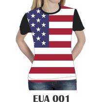 Camiseta Blusa Estados Unidos Eua Americana