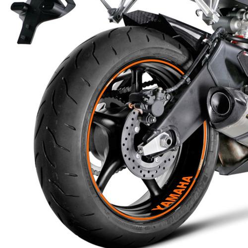 Neo Ubs: Adesivo Friso Refletivo Roda Moto Yamaha Xt 660 Laranja