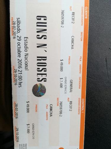 Entrada Cancha Guns N Roses - $ 100.000 en Mercado Libre