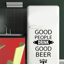 Adesivo Parede Cozinha Geladeira Frase Good Beer Cerveja