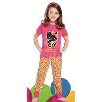 Pijama Hello Kitty Animal Print 3421