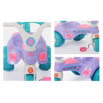 Triciclo Menina Velotrol Aleve C/ Haste Cotiplás
