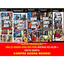 Gta Liberty City Stories Grand Theft Auto (kit 5 Jogos Ps2