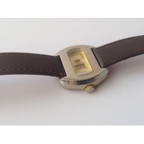 Antiguo Reloj Digital Sutton Suizo. Horas Saltantes Funciona