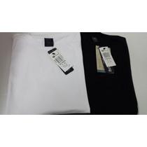 Camiseta Masc Mc Hering Ref 0201 Kit Com Duas Branca,preta