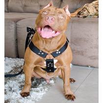 Coleira Peitoral Cachorro, Guia, Adaptador Rottweiler Akita