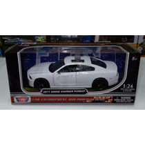 1:24 Dodge Charger Pursuit 2011 Bco Patrulla Motor Max Ccaja