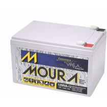 Bateria Moura Estacionária 12v 12ah Vlra Nobreak Alarme Ups