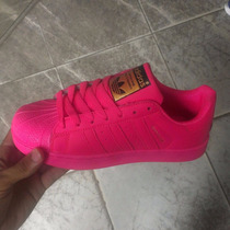 Zapatos Adidas Superstar Pink Dama