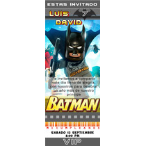Tarjetas Invitación Cars, Batman Lego, Star Wars Y Mas