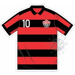 f04f7179ad553 Adesivo Camisa Esporte Clube Vitória Da Bahia Futebol Brasil - R  7 ...