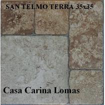 Cerámica San Telmo Gris/terra 1ra 35x35 Lomas De Zamora