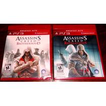 Lote 2 Vj Assassins Creed Brotherhood Y Revelations Ps3