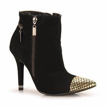 Bota Ankle Boots Via Marte 14-6904 - Preto