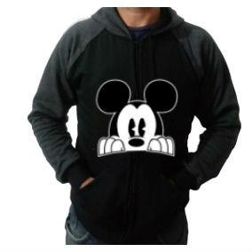 Moletom Mickey Casaco Blusa De Frio Masculino Moleton - R  65 5c3a6a70650