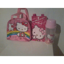 Lonchera De Hello Kitty En Combo