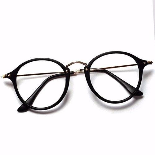 03fe79827fbc3 Armação Óculos De Grau Redondo Masculino Feminino Brinde - R  59