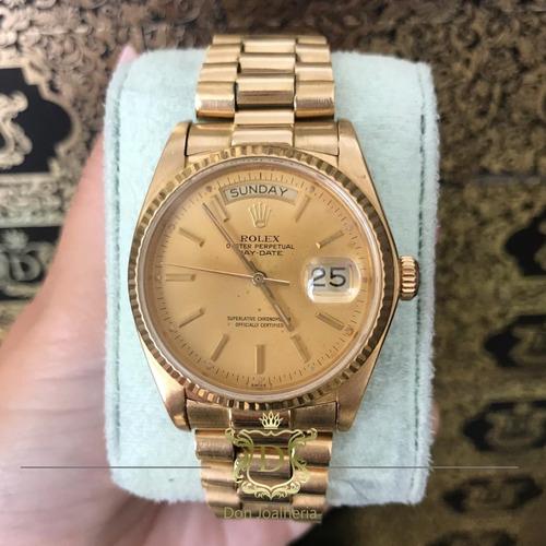 7a9f11f7ecd Relógio Rolex Presidente Ouro 18k - R  48.900
