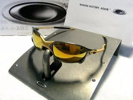 ee5351321 Oculos Juliet 24k X Metal Cinza E Dourado Frete Gratis - R$ 197,00 ...