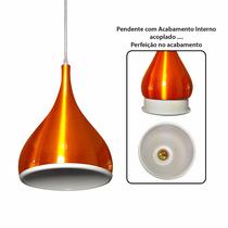 Pendente Lustre Luminária Gota Gomo Laranja Design Perfeito