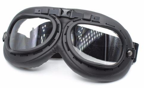 Óculos Retro Moto Café Racer Aviador Preto Lente Cristal - R  69,90 ... 3e470f7cfe